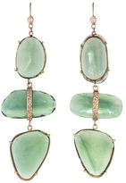 Jacquie Aiche Triple Fluorite Earrings - Rose Gold