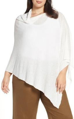 Eileen Fisher Organic Linen Blend Poncho (Plus Size)