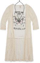 Arizona 3/4 Sleeve Crochet Layered Top - Girls' 7-16 and Plus