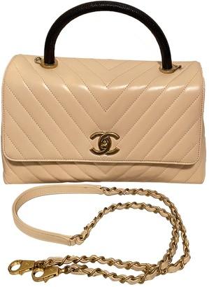 Chanel Coco Handle Beige Lizard Handbags