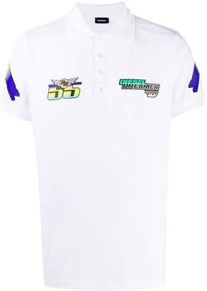 Diesel Logo Short-Sleeve Polo Shirt