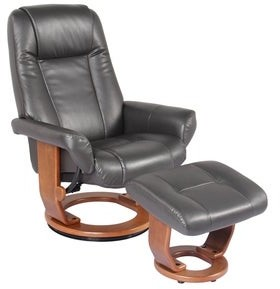 Hazel Eland Faux Leather Recliner and Ottoman