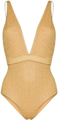 Oseree Lumiere deep V-neck swimsuit