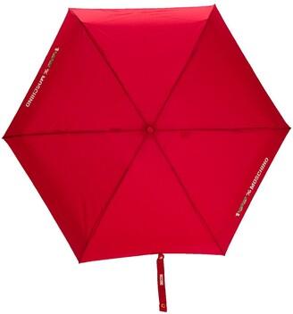 Moschino Super Mini logo-print umbrella