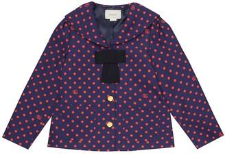 Gucci Kids Polka-dot stretch-cotton jacket