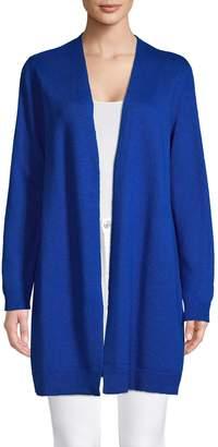 Eileen Fisher Open-Front Linen Cotton-Blend Cardigan