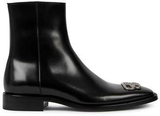 Balenciaga Rim BB black leather ankle boots