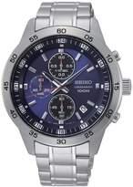 Seiko Blue Chronograph Dial Stainless Steel Bracelet Watch