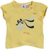 Petit Bateau 'Flat' Striped T-Shirt (Baby) - Yellow-3 Months