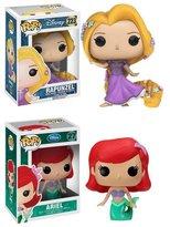 Disney Pop! Vinyl Rapunzel and Ariel Bobble Head Gift Set.