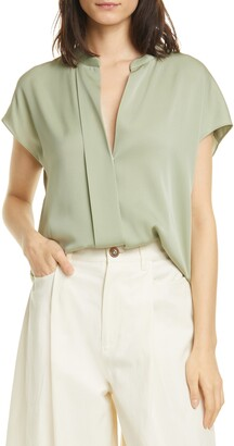 Vince Dolman Sleeve Stretch Silk Top