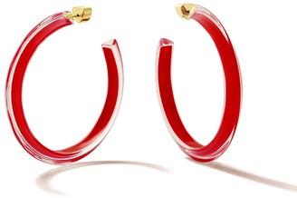 Alison Lou Cherry Red Medium Fall Jelly Hoop Earrings
