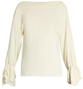 Osman Rena tiered-cuff crepe top