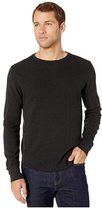 Lucky Brand Brushed Thermal Crew Top (Jet Black) Men's Clothing