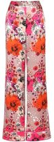 Roberto Cavalli Floral-printed silk trousers