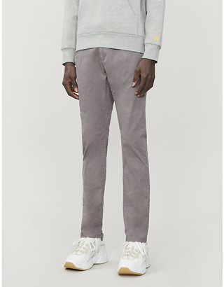 HUGO BOSS Slim-fit stretch-cotton trousers