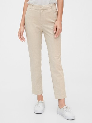 Gap High Rise Slim Ankle Seersucker Pants