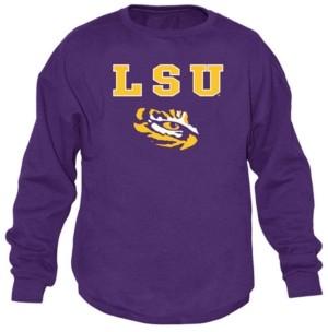 Top of the World Men's Lsu Tigers Midsize Crew Neck Sweatshirt