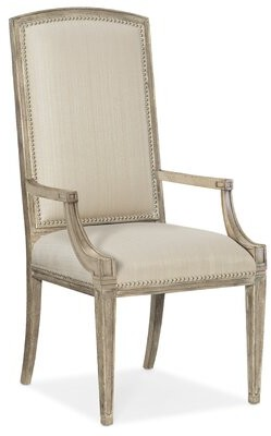 Hooker Furniture Sanctuary 2 Arm Chair in Cream (Set of 2
