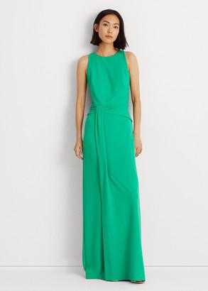 Ralph Lauren Crepe Sleeveless Gown