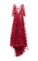 Luisa Beccaria Tulle Embroidered Gown
