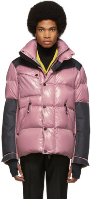 MONCLER GRENOBLE Pink and Black Down Palu Jacket