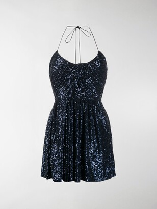 Saint Laurent Sequinned Mini Dress