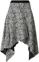 Proenza Schouler asymmetric patterned skirt - women - Silk/Acetate/Viscose - 4