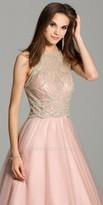 Camille La Vie Illusion Tulle Evening Dress