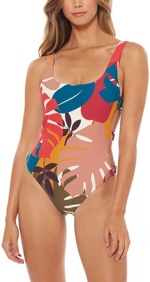 Red Carter Ring Side Tank High Leg Maillot One-Piece