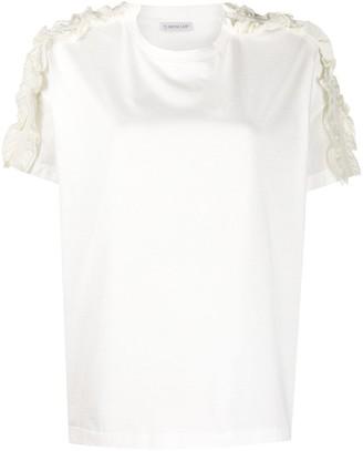 Moncler ruffle-sleeve T-shirt