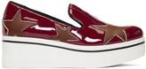 Stella McCartney Red Star Binx Platform Slip-On Sneakers