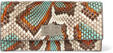 Fendi Peekaboo Python Wallet - Brown