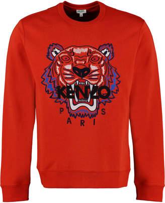 Kenzo Tiger Embroidery Cotton Sweatshirt