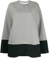MM6 MAISON MARGIELA hybrid sweatshirt pinstripe blazer