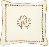Roberto Cavalli Venezia Printed Cotton & Silk Pillow