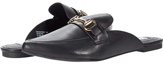 Steve Madden Fortress Mule (Black Leather) Women's Shoes