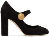 Dolce & Gabbana Black Suede Mary Jane Heels
