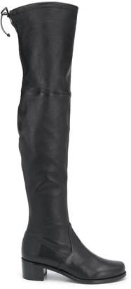 Stuart Weitzman 45mm Tie-Fastened Boots