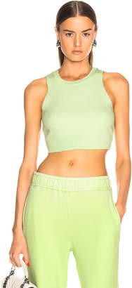 Cotton Citizen Ibiza Crop Tank in Citron | FWRD