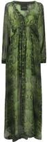John Richmond snakeskin-print silk maxi dress