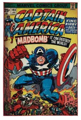 "Marvel Captain America Rug (4'6""x6'6"")"