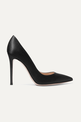 Gianvito Rossi 105 Satin Pumps - Black