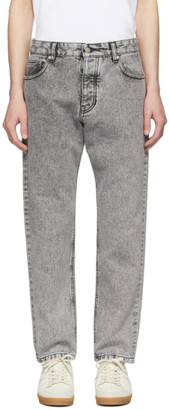 Ami Alexandre Mattiussi Grey Carrot-Fit Jeans
