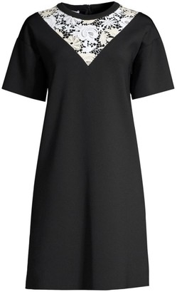 Escada Sport Lace Insert T-Shirt Dress