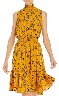 nanette Nanette Lepore Floral Print Smocked-Waist Dress
