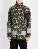 Palm Angels Stand-collar camouflage-print cotton jacket