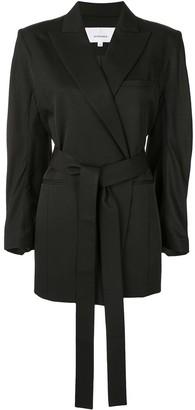 AKIRA NAKA Belted Wrap-Front Jacket