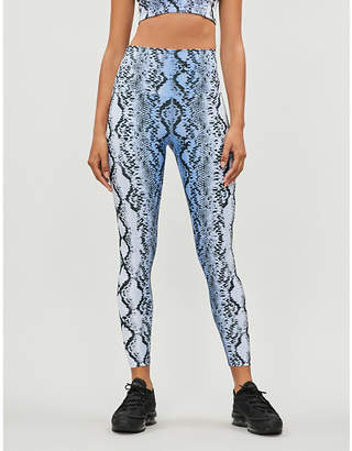 Beach Riot Snake high-rise stretch-jersey leggings