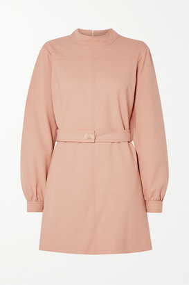 Victoria Victoria Beckham Belted Twill Mini Dress - Blush